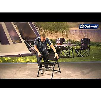 Outwell Ergo Flexi Comfort Kenai Foldable Camping Chair Black