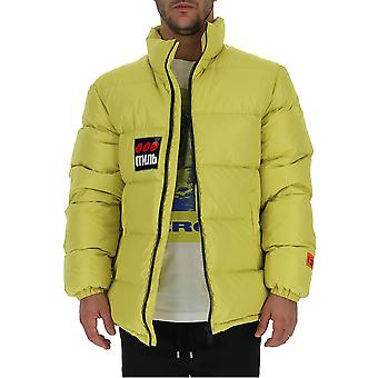 Heron Preston Hmed001f197860041588 Men's Yellow Nylon Outerwear Jacket