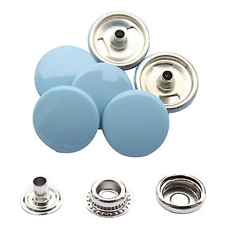 Grau blau 15mm 4, Teil Press Studs, Snap Fastener