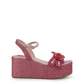 Love Moschino Original Women Spring/Summer Wedge - Pink Color 34610