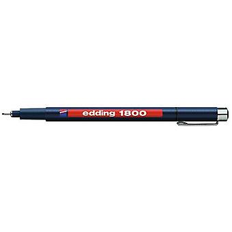 edding-1800 profipen 0.5 الأسود 10PC 0,5 مم / 4-180005001