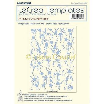 LeCrea - Stencil Oil & Paint spots design size 95.6272 148x210mm (01-20)