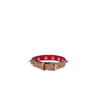 Christian Louboutin 1205100q551 Women's Pink Leather Bracelet