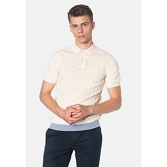 Merc HALMORE, Cable Knitted Men's Polo Shirt