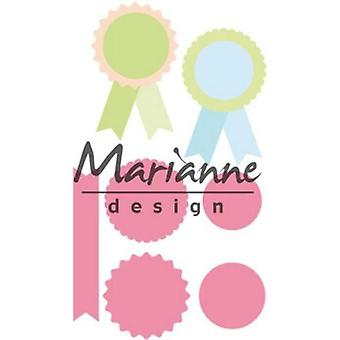 Marianne Design Collectables Cutting Dies - Rosettes & Labels COL1444
