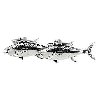 Tuna Fish Cufflinks Fine English Pewter - Gift Boxed - Game Fishing Cuff Links
