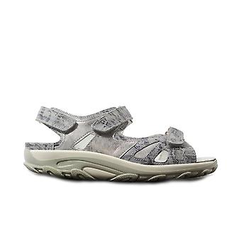 Waldläufer Hanni 448001 219 267 Sky Blue Leather Womens Wide Fit Sandals