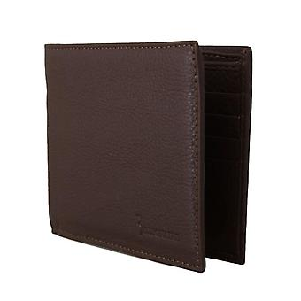 Brown-leather-bifold wallet