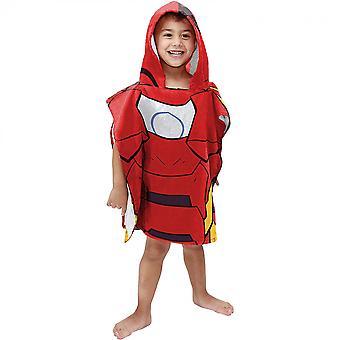 Marvel Iron Man Youth Ręcznik z kapturem Ponczo