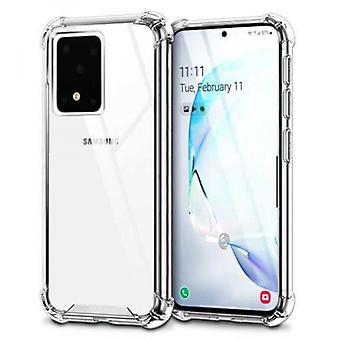 FONU Anti-Shock Verstevigde Backcover Hoesje Samsung Galaxy S20 Ultra - Transparant