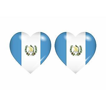 2x عصا ملصقا القلب GCA غواتيمالا