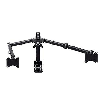Essential Triple Monitor Articulating Arm Desk Mount - Black For 25.4 - 76.2cm Displays, Weighing Up to 9.97 Kgs. (21lbs) Max by Monoprice