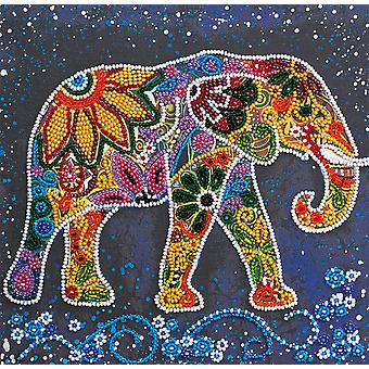 Abris Art Bead Embroidery Kit With Thread - Indian Elephant