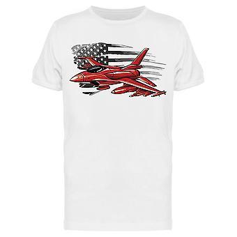 Punainen sotilaskone Usa Flag Tee Men's -Kuva Shutterstock