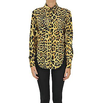 Paco Rabanne Ezgl246007 Women's Leopard Cotton Shirt