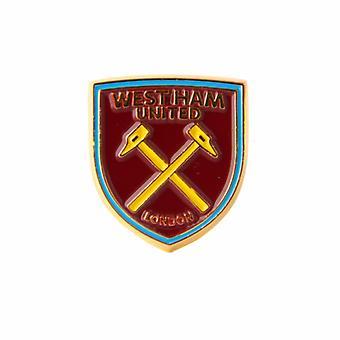 West Ham United FC virallinen jalkapallo Crest Pin rintanappi