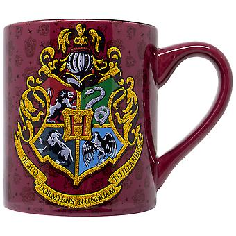 Harry Potter Crest 14oz Glitter Ceramic Mug