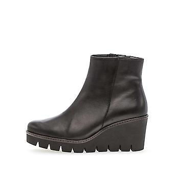 Gabor foulardcalf schwarz booties womens zwart 001
