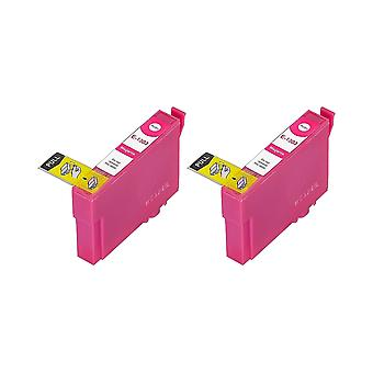 RudyTwos 2x Replacement for Epson Stag Ink Unit Magenta(ExtraHighYield) Compatible with Stylus B42WD, BX525WD, BX535WD, BX625FWD, BX630FW, BX635FWD, BX925FWD, BX935FWD, SX525WD, SX535WD, SX620FW, Work
