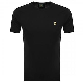 Luke 1977 Luke Traffs Small Emb Logo T-Shirt Black ZM280165