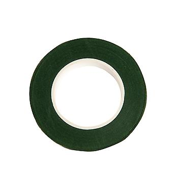 27.5m Floral Crepe Tape for Floristry Crafts - Dark Green