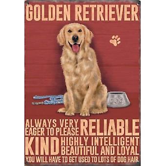 Golden Retriever Metal Sign
