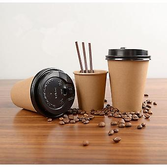 Disposable Paper Coffee Cup With Lid Cover - Eco-friendly Tea Cup