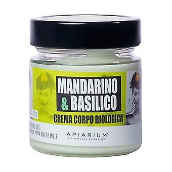 Organic Mandarin and Basil Body Cream 200 ml of cream