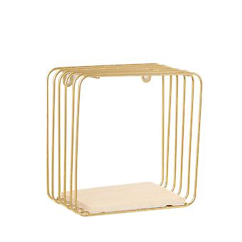 Creative Nordic Wall Hanging Shelf Square Gold
