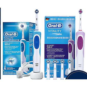 Electric Toothbrush - Rachargeable, Rotating With Automatic Replacement Heads