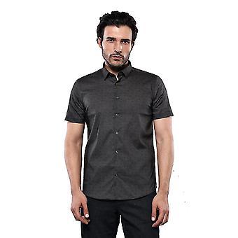Kaki patroon korte mouwen shirt | wessi wessi