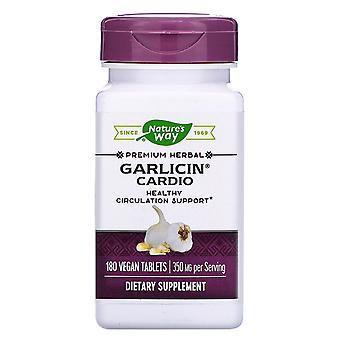 Nature's Way, Garlicin Cardio, 350 mg, 180 Vegan Tablets