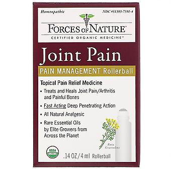Forces of Nature, Joint Pain, Pain Management, Rollerball, 0.14 oz (4 ml)