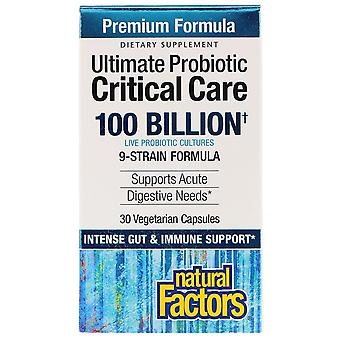 Natural Factors, Ultimate Probiotic, Critical Care, 100 Billion CFU, 30 Vegetari