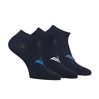 Emporio Armani Loungewear Navy 3 Pack Trainer Socks