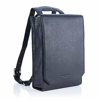 Lilly Leather Laptop Backpack in Slate Grey Richmond Chrome Free Leather