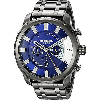 Diesel Watches Dz4358 Stronghold Blue & Grey Stainless Steel Chronograph Men's Watch
