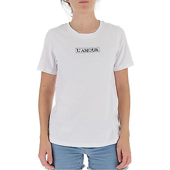 L'autre Koos B1550205090u006 Women's White Cotton T-shirt