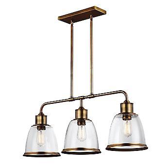 3 Licht plafond eiland kroonluchter Hanger Bar Light Brass, E27