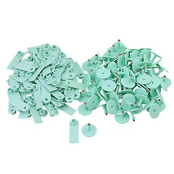 52x18mm Green Ear Tagfor Pig Cow Cultivation Set of 100