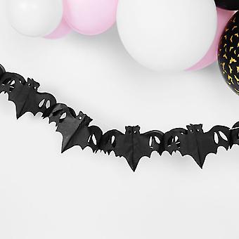Halloween Party Bat Tissue Garland Decoration 4m