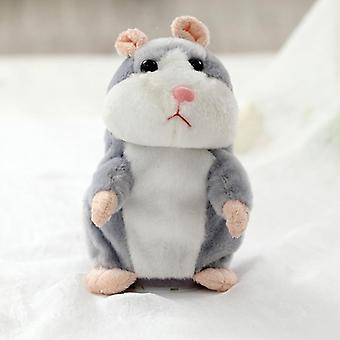 Electronic Repeated Talking Hamster Speaking Plush Animals Toys For Children Girls Boys Baby Tiara
