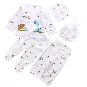Newborn Infant Unisex Baby Clothes, Animal Print Underwear, Shirt And Pants