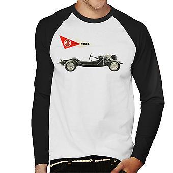 MG MGA Series British Motor Heritage Men''s Baseball Long Sleeved T-Shirt