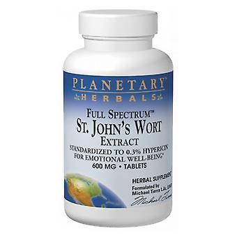 Planetary Herbals Full Spectrum St. John's Wort Extract, 600 mg, 60 Tabs