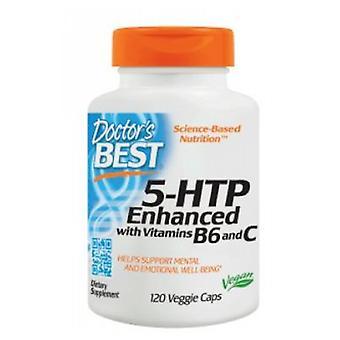 Doctors Best 5HTP Enhanced With Vitamins B6 And C, 120 Veg Caps