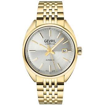 Gevril Men's 48704 Five Points Swiss Automatic Gold IP Steel Date Wristwatch