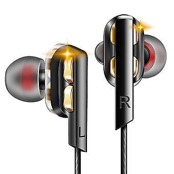 QKZ AK4 Metal Stereo Dual Dynamic Drivers Wired Earphone