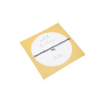 Bee Happy Silver Bead Bracelet