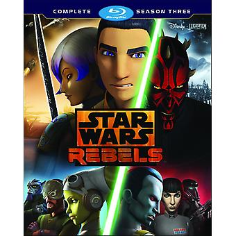 Star Wars Rebels: The Complete Sæson 3 [Blu-ray] USA import